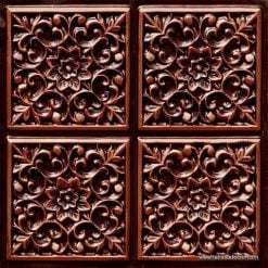 109 Antique Copper Faux Tin Ceiling Tile