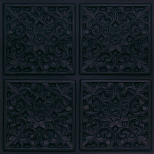 109 Black Matte  Faux Tin Ceiling Tile