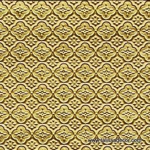 WC20 Faux Tin Backsplash Roll - Brass