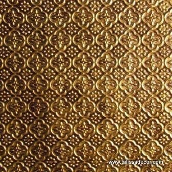 WC20 Faux Tin Backsplash Roll - Antique Brass