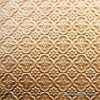 WC20 Faux Tin Backsplash Roll - Gold