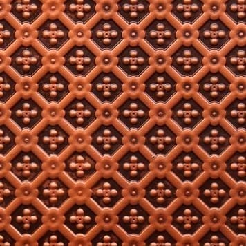 WC25  Faux Tin Backsplash Roll - Antique Copper