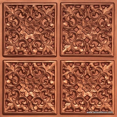 109 Copper Faux Tin Ceiling Tile
