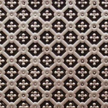 WC25  Faux Tin Vinyl Backsplash Roll - Antique Silver