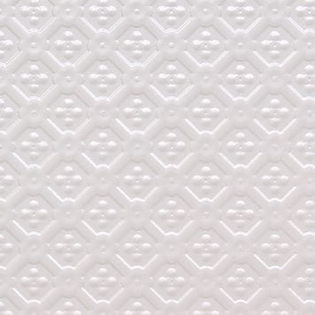 WC25  Faux Tin Backsplash Roll - White Pearl