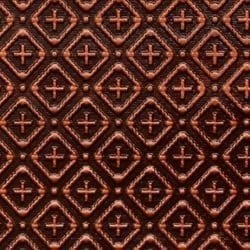 WC70  Faux Tin Backsplash Roll - Antique Copper