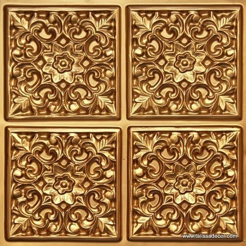 109 Gold Faux Tin Ceiling Tile