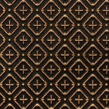 WC70  Faux Tin Backsplash Roll -Antique Brass