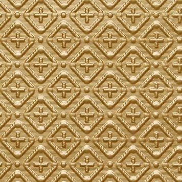 WC70  Faux Tin Backsplash Roll - Brass