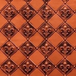 WC80  Faux Tin Backsplash Roll - Antique Copper