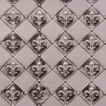 WC80  Faux Tin Backsplash Roll - Antique Silver