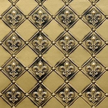 WC80  Faux Tin Backsplash Roll - Antique Brass