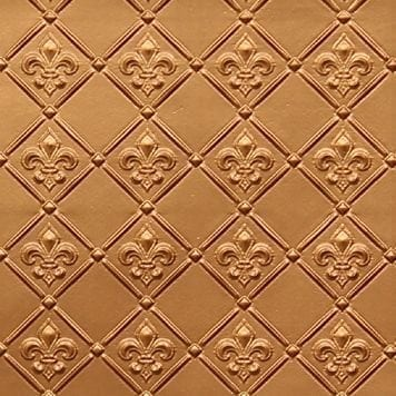 WC80  Faux Tin Backsplash Roll - Gold