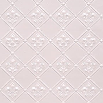 WC80  Faux Tin Backsplash Roll - White Pearl