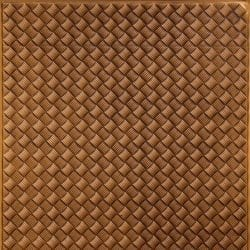 WC35  Faux Tin Backsplash Roll - Antique Gold