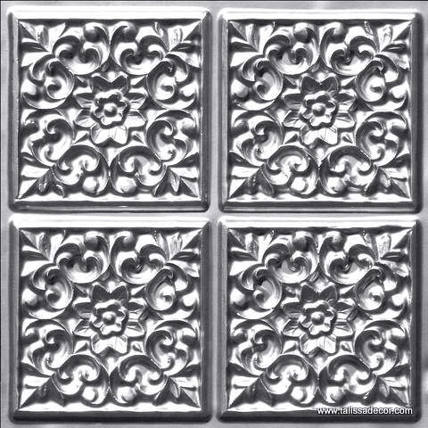 109 Silver Faux Tin Ceiling Tile