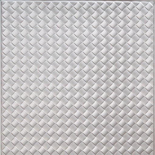 WC35  Faux Tin Backsplash Roll - Silver