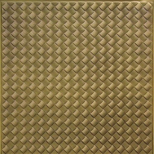 WC35  Faux Tin Backsplash Roll - Antique Brass
