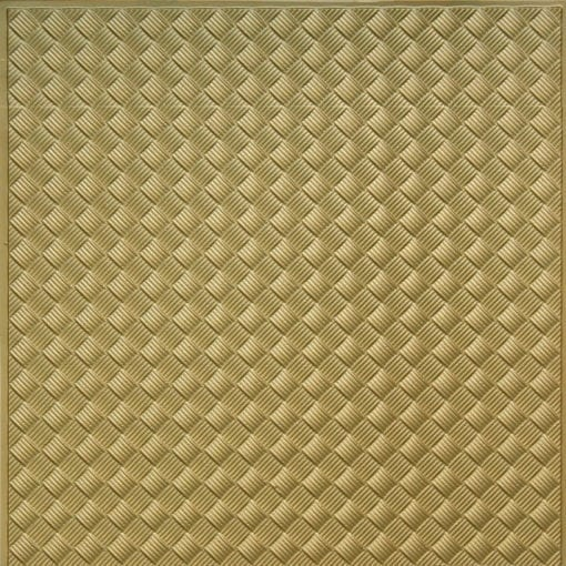 WC35  Faux Tin Backsplash Roll - Brass
