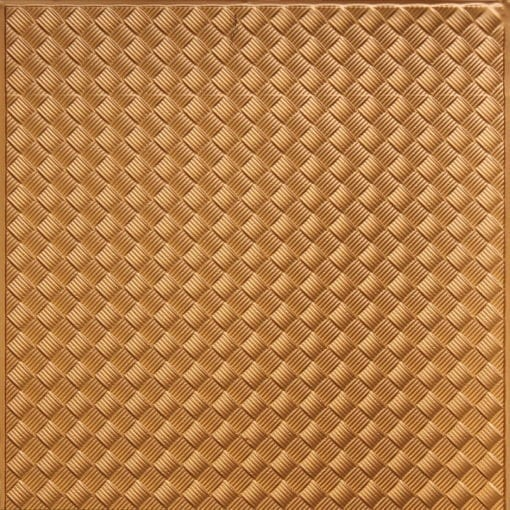 WC35  Faux Tin Backsplash Roll - Gold