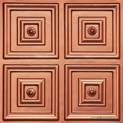 112 Copper Faux Tin Ceiling Tile