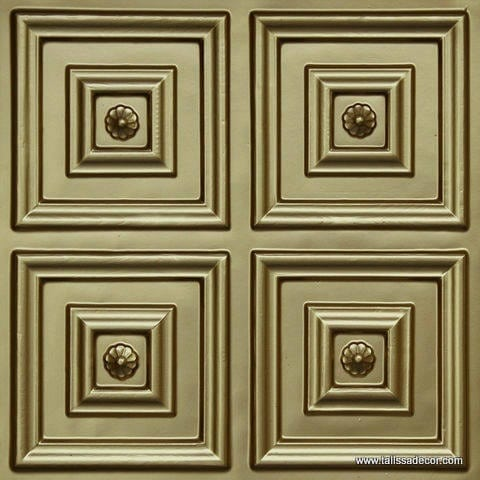 112 Brass Faux Tin Ceiling Tile