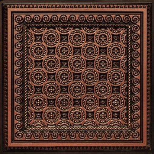243 Antique Copper Faux Tin Ceiling Tile