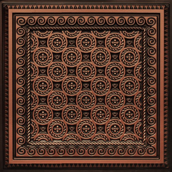 243 Antique Copper Faux Tin Ceiling Tile