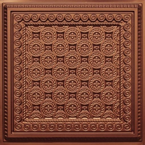 243 Copper Faux Tin Ceiling Tile