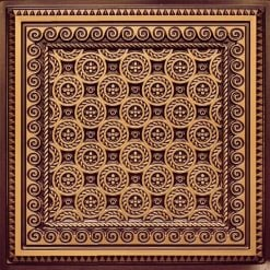 243 Antique Gold Faux Tin Ceiling Tile