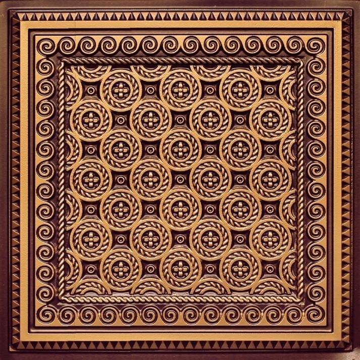 243 Antique Gold Faux Tin Ceiling Tile