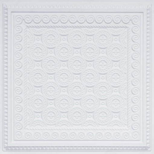 243 White Matte Faux Tin Ceiling Tile