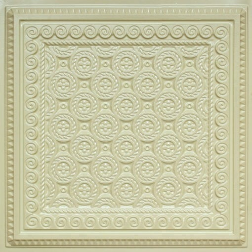 243 Cream Pearl Faux Tin Ceiling Tile