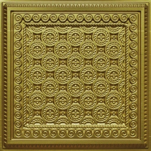 243 Brass Faux Tin Ceiling Tile