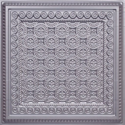 243 Silver Faux Tin Ceiling Tile