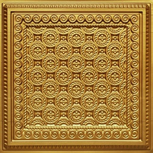 243 Gold Faux Tin Ceiling Tile