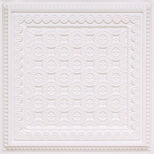 243 White Pearl Faux Tin Ceiling Tile