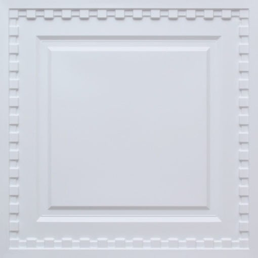 234  Faux Tin Ceiling Tile - White Matte