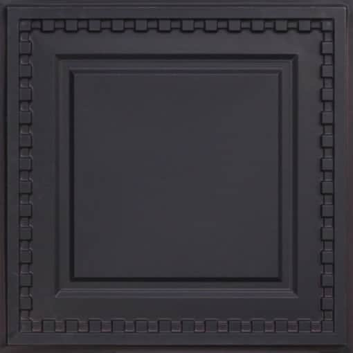 234 Faux Tin Ceiling Tile - Black Matte