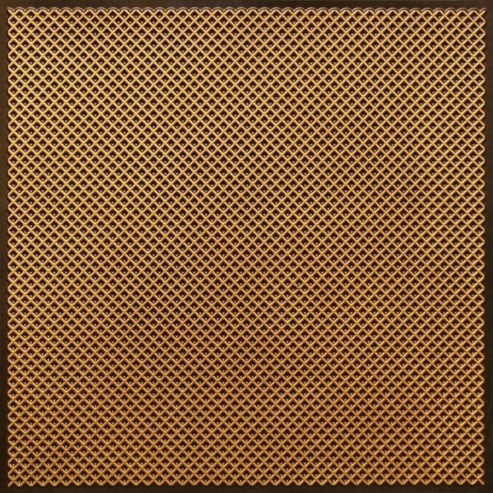 FT2 Antique Gold Faux Tin Glue up Ceiling Tile / Edge Filler