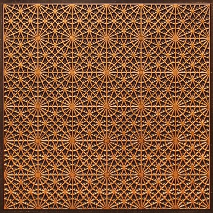 FT3 Antique Gold  Faux Tin Glue up Ceiling Tile / Edge Filler