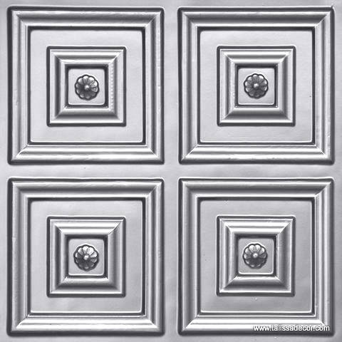 112 Silver Faux Tin Ceiling Tile