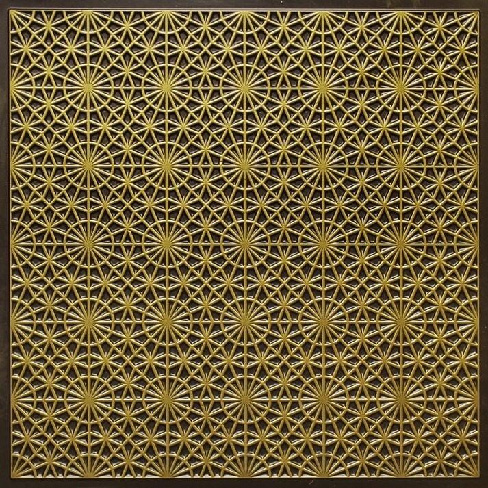 ft3 antique brass faux tin glue up ceiling tile edge filler - Glue Up Ceiling Tiles