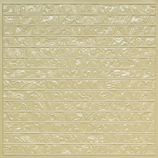 FT4 Cream Pearl Faux Tin Glue up Ceiling Tile / Edge Filler