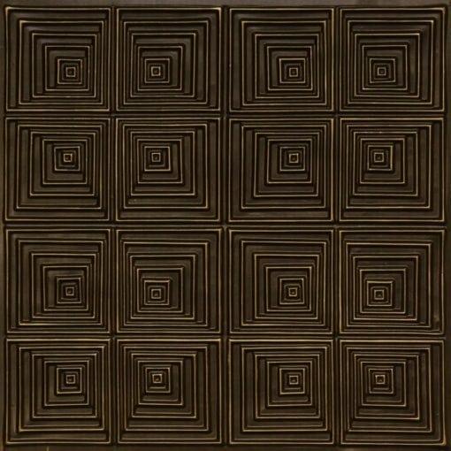 115 Antique Brass Faux Tin Ceiling Tile