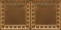 8236 Antique Gold Faux Tin Ceiling Tile
