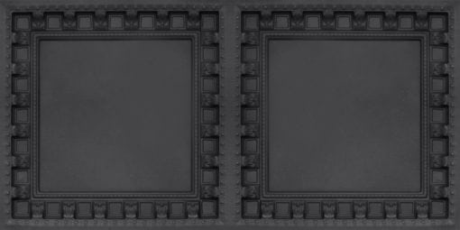 8236 Black Matte  Faux Tin Ceiling Tile