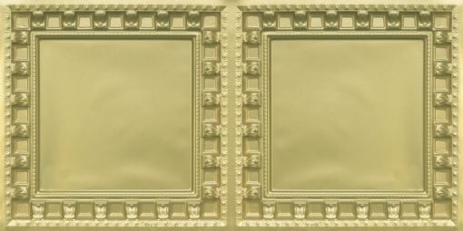 8236 Brass Faux Tin Ceiling Tile