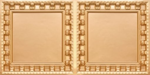 8236 Gold Faux Tin Ceiling Tile
