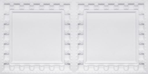 8236 White Matte Faux Tin Ceiling Tile